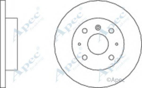 APEC BRAKING DSK217 Тормозной диск