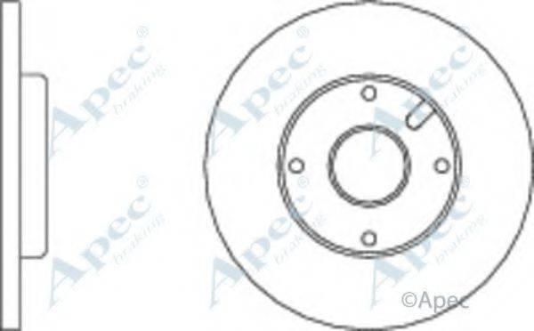 APEC BRAKING DSK126 Тормозной диск