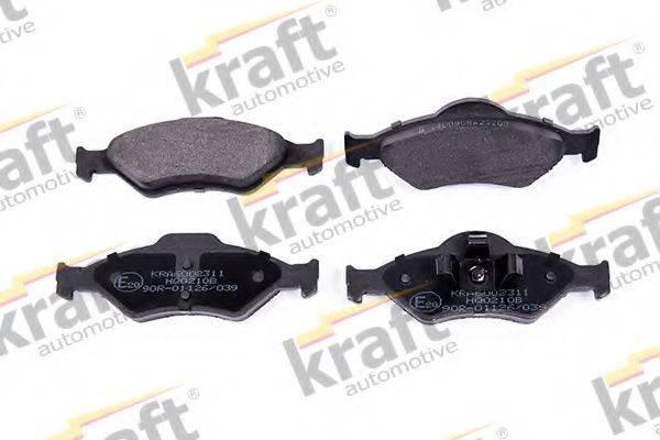 KRAFT AUTOMOTIVE 6002311 Комплект тормозных колодок, дисковый тормоз