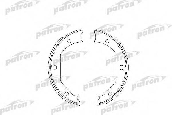 PATRON PSP585 Комплект тормозных колодок, стояночная тормозная система