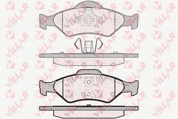 VILLAR 6260795 Комплект тормозных колодок, дисковый тормоз