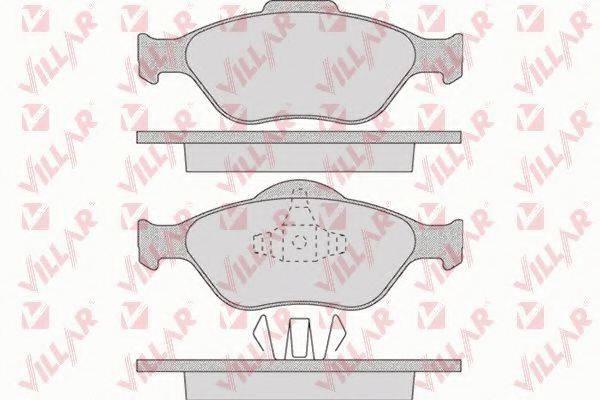 VILLAR 6260949 Комплект тормозных колодок, дисковый тормоз