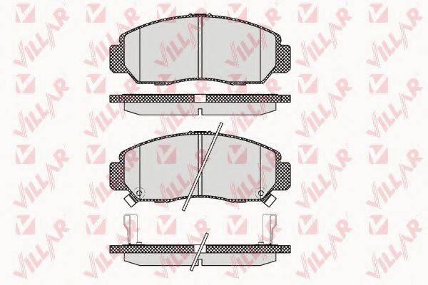 VILLAR 6261071 Комплект тормозных колодок, дисковый тормоз