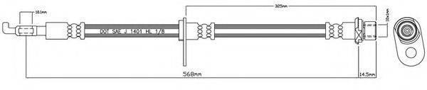 MOTAQUIP VBH1086 Тормозной шланг