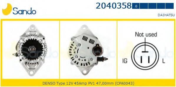 SANDO 20403580 Генератор