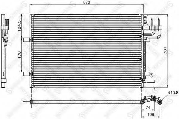 STELLOX 1045036SX Конденсатор, кондиционер