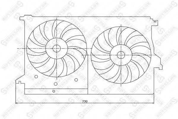 STELLOX 2999195SX Вентилятор, охлаждение двигателя