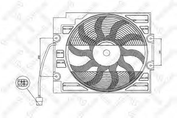STELLOX 2999331SX Вентилятор, охлаждение двигателя