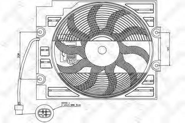 STELLOX 2999332SX Вентилятор, охлаждение двигателя