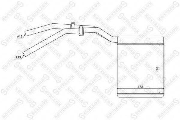 STELLOX 1035137SX Теплообменник, отопление салона