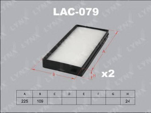 Фильтр, воздух во внутренном пространстве LYNXAUTO LAC-079