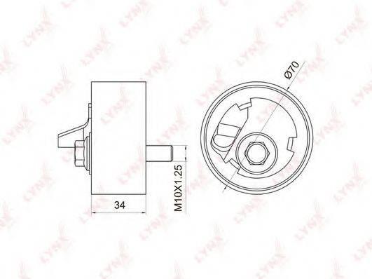 LYNXAUTO PB1056 Натяжной ролик, ремень ГРМ