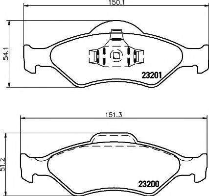 HELLA PAGID 8DB355008891 Комплект тормозных колодок, дисковый тормоз