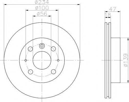 HELLA PAGID 8DD355104841 Тормозной диск