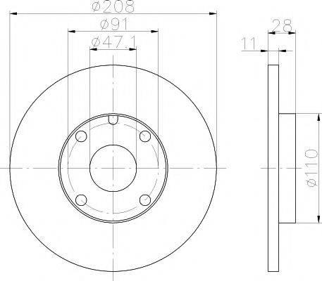 HELLA PAGID 8DD355101911 Тормозной диск