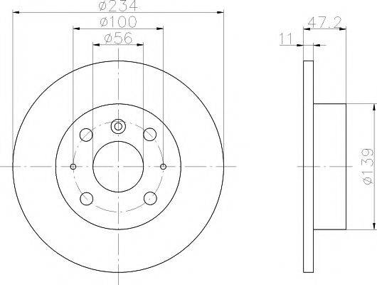 HELLA PAGID 8DD355104851 Тормозной диск