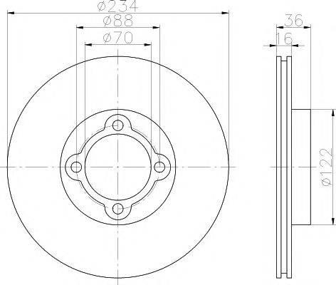 HELLA PAGID 8DD355108661 Тормозной диск
