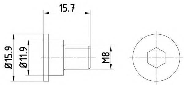 HELLA PAGID 8DZ355209031 Болт, диск тормозного механизма