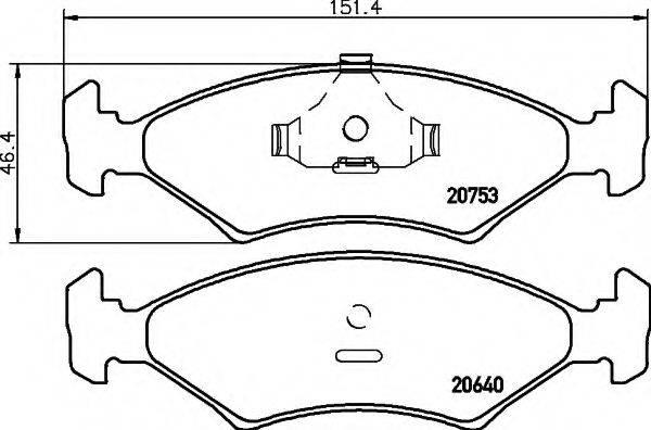 COBREQ N115 Комплект тормозных колодок, дисковый тормоз