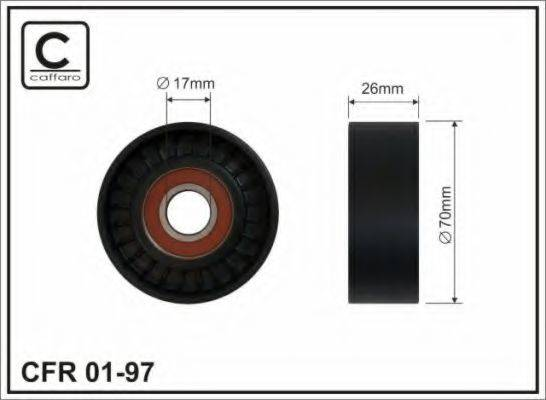 CAFFARO 0197 Натяжной ролик, поликлиновой  ремень