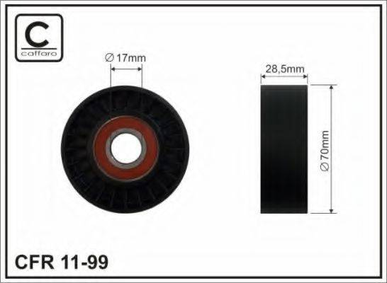 Натяжной ролик, поликлиновой  ремень CAFFARO 11-99
