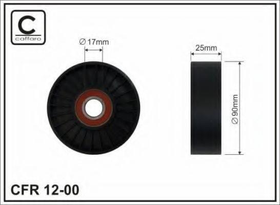 Натяжной ролик, поликлиновой  ремень CAFFARO 12-00
