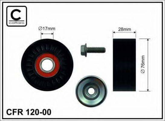 Натяжной ролик, поликлиновой  ремень CAFFARO 120-00