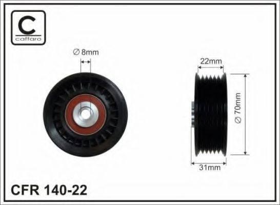 CAFFARO 14022 Паразитный / ведущий ролик, поликлиновой ремень