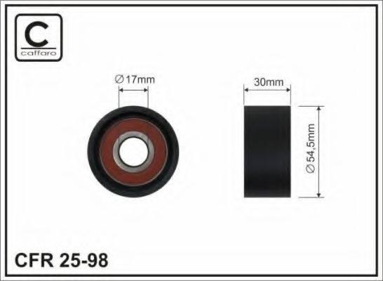 CAFFARO 2598 Паразитный / ведущий ролик, поликлиновой ремень