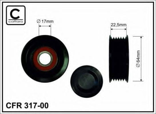 CAFFARO 31700 Паразитный / ведущий ролик, поликлиновой ремень
