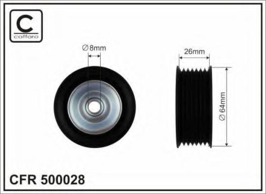 CAFFARO 500028 Паразитный / ведущий ролик, поликлиновой ремень