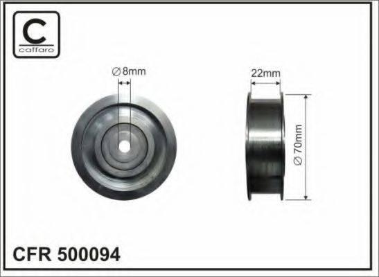 CAFFARO 500094 Паразитный / ведущий ролик, поликлиновой ремень