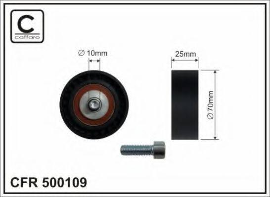 CAFFARO 500109 Натяжной ролик, поликлиновой  ремень