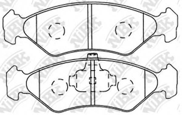 NIBK PN5106 Комплект тормозных колодок, дисковый тормоз