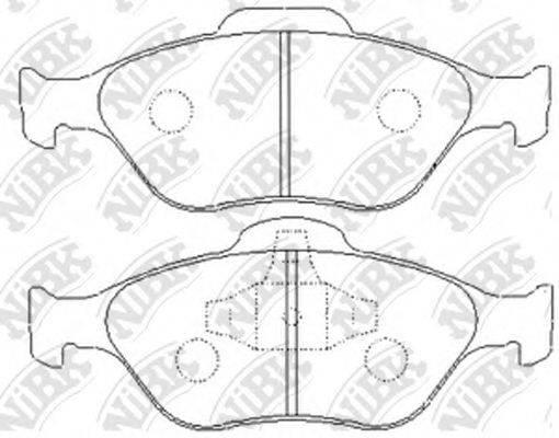 NIBK PN5495 Комплект тормозных колодок, дисковый тормоз