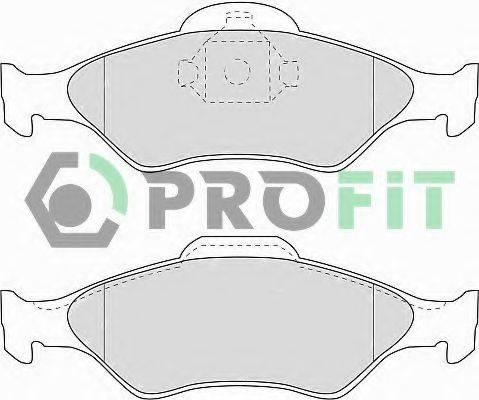 PROFIT 50001393 Комплект тормозных колодок, дисковый тормоз