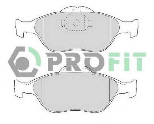 PROFIT 50001394 Комплект тормозных колодок, дисковый тормоз