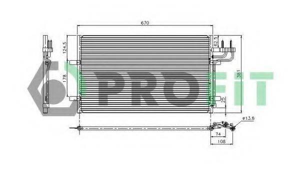 PROFIT PR2537C1 Конденсатор, кондиционер