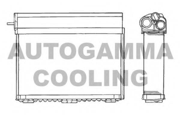 AUTOGAMMA 101625 Теплообменник, отопление салона