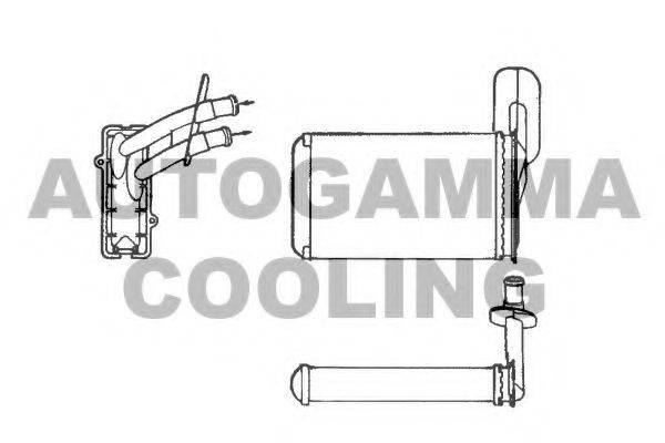 Теплообменник, отопление салона AUTOGAMMA 101775