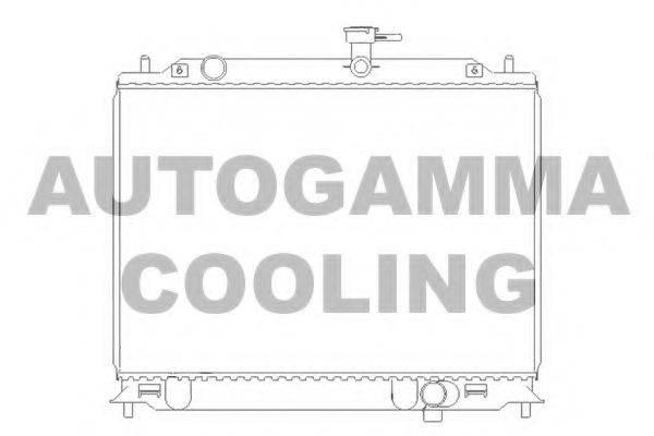 AUTOGAMMA 104829 Радиатор, охлаждение двигателя