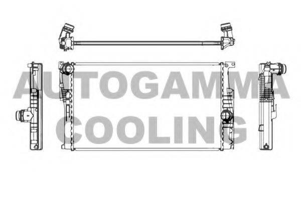 Радиатор, охлаждение двигателя AUTOGAMMA 107162