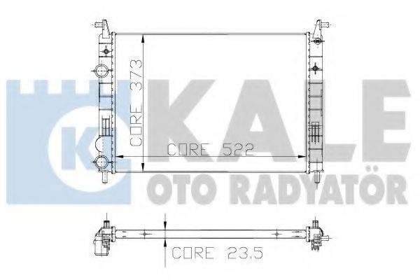 Радиатор, охлаждение двигателя KALE OTO RADYATOR 142900