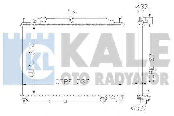 KALE OTO RADYATOR 369500 Радиатор, охлаждение двигателя