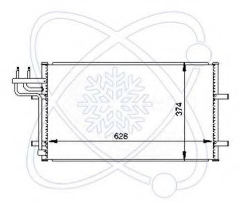 ELECTRO AUTO 30G0033 Конденсатор, кондиционер