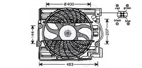ELECTRO AUTO 32VE008 Вентилятор, охлаждение двигателя