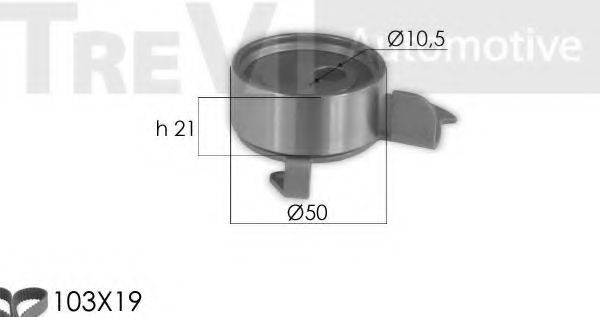 TREVI AUTOMOTIVE KD1357 Комплект ремня ГРМ