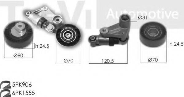 TREVI AUTOMOTIVE KA1226 Поликлиновой ременный комплект