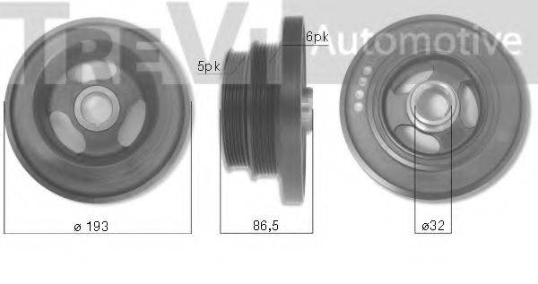 TREVI AUTOMOTIVE PC1165 Ременный шкив, коленчатый вал