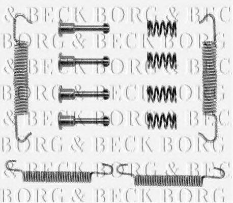 BORG & BECK BBK6007 Комплектующие, колодки дискового тормоза